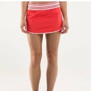 LOVED RUN TRACK SKIRT WITH SPANDEX SHORTS